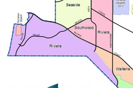 From the map of all Torrance Homeowners Associations Courtesy Torrance Community Development