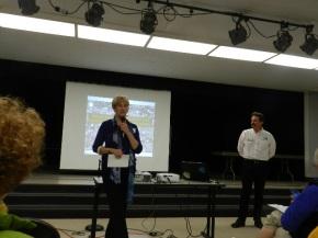 RHA President Judy Brunetti introduces Joe Galliani