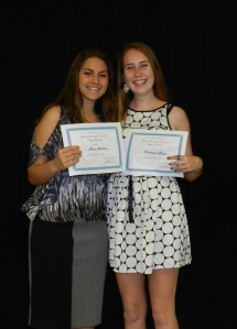 2014 scholarship winners Anna Spallino and Christina Bitten