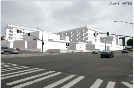 View of proposed Legado development Source: Visual Impact Study for City of Redondo Beach