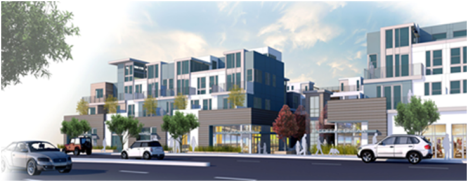 Artist's rendering of Sea Breeze development at 1914-1926 S. PCH