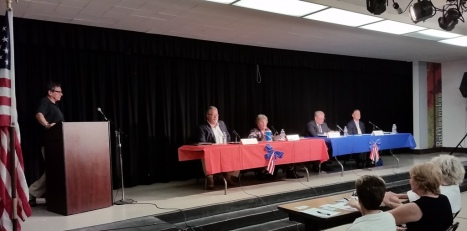 L to R: candidates Don Lee, Terry Ragins, G. Rick Marshall, Clint Andrew Paulson